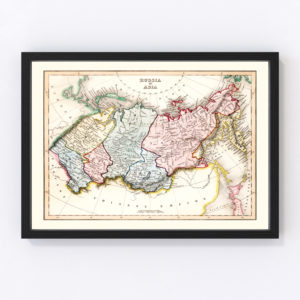 Vintage Map of Russia in Asia 1832