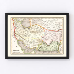 Vintage Map of Persia 1832