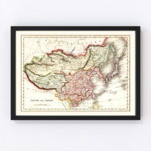 Vintage Map of China & Japan 1832