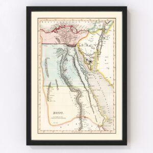 Vintage Map of Egypt 1832