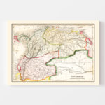 Vintage Map of Colombia 1832