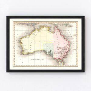 Vintage Map of Australia 1832