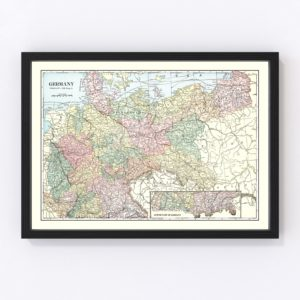 Vintage Map of Germany 1901