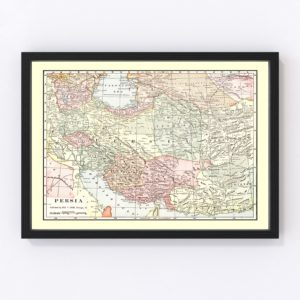 Vintage Map of Persia 1901