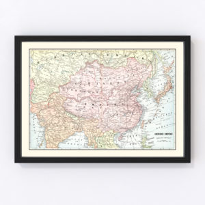 Vintage Map of China 1901