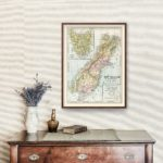 Vintage Map of New Zealand (South Island) 1901