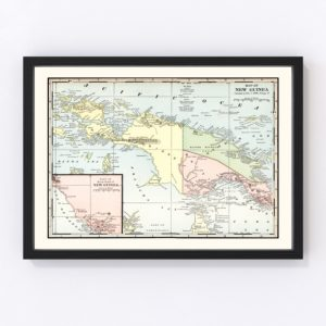 Vintage Map of New Guinea 1901