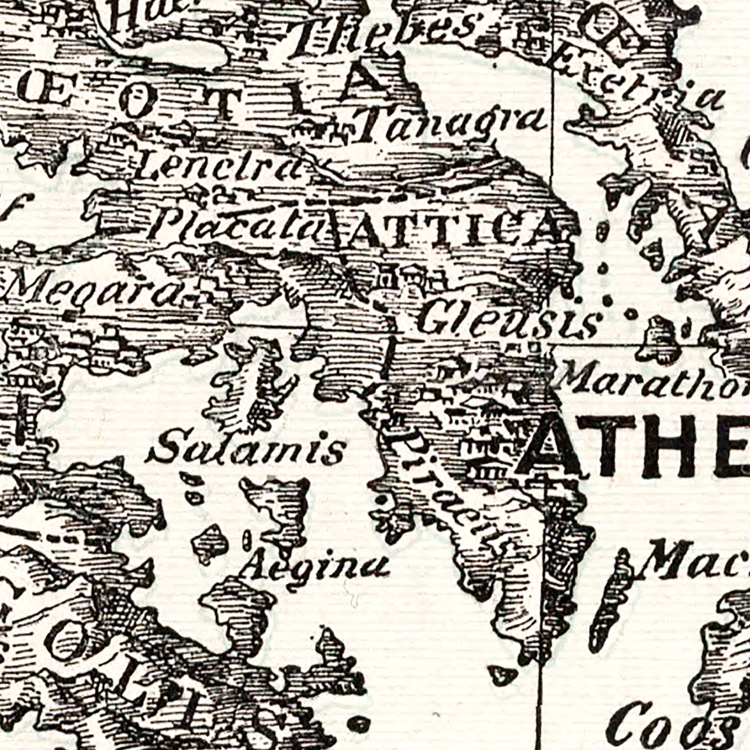 Vintage Map of Ancient Greece 1901