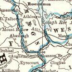 Vintage Map of Ireland 1893