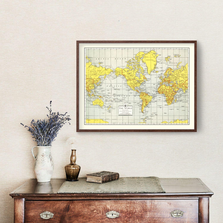 Vintage World Map 1943