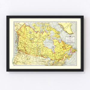Vintage Map of Canada 1943