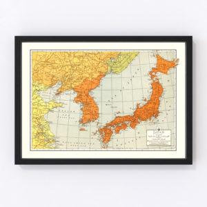 Vintage Map of Japan 1943
