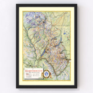 Vintage Map of Glacier National Park 1939