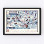 Vintage Map of Mt. McKinley National Park 1937