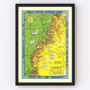 Vintage Map of Bryce Canyon National Park 1940