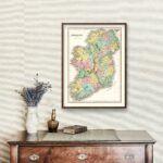 Vintage Map of Ireland 1827