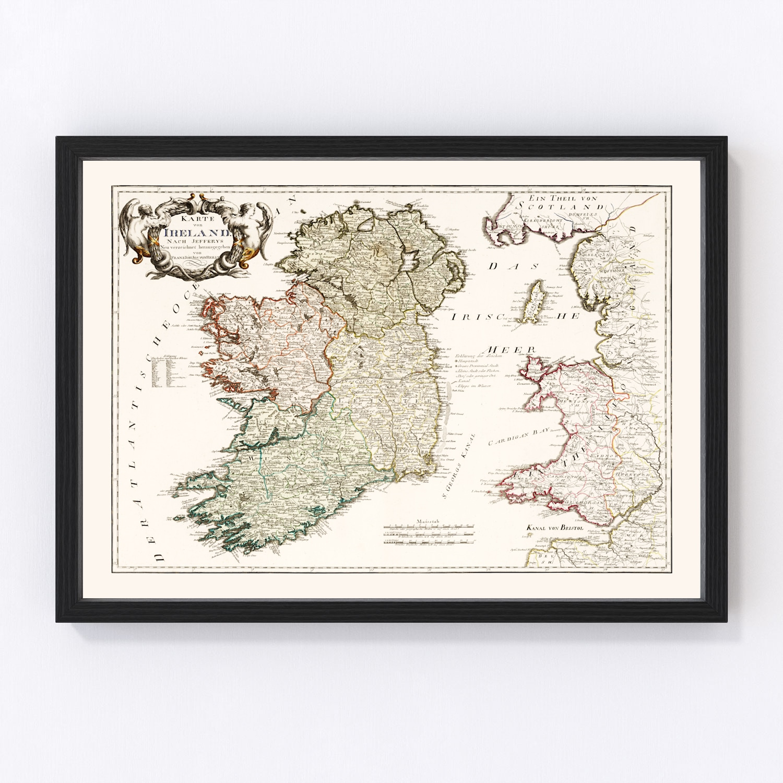 Vintage Map of Ireland 1795