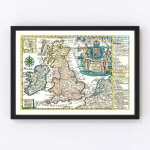 Vintage Map of England, Scotland & Ireland 1790