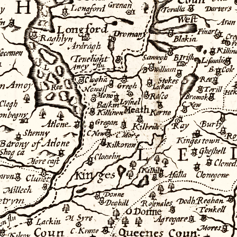 Vintage Map of Ireland 1676