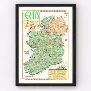 Erin's First Families Map of Ireland 1946