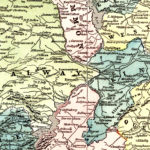 Vintage Map of Ireland 1855