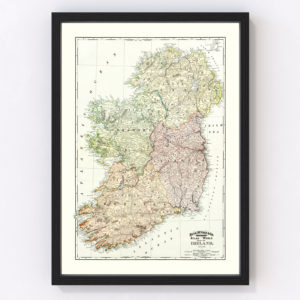 Vintage Map of Ireland 1897