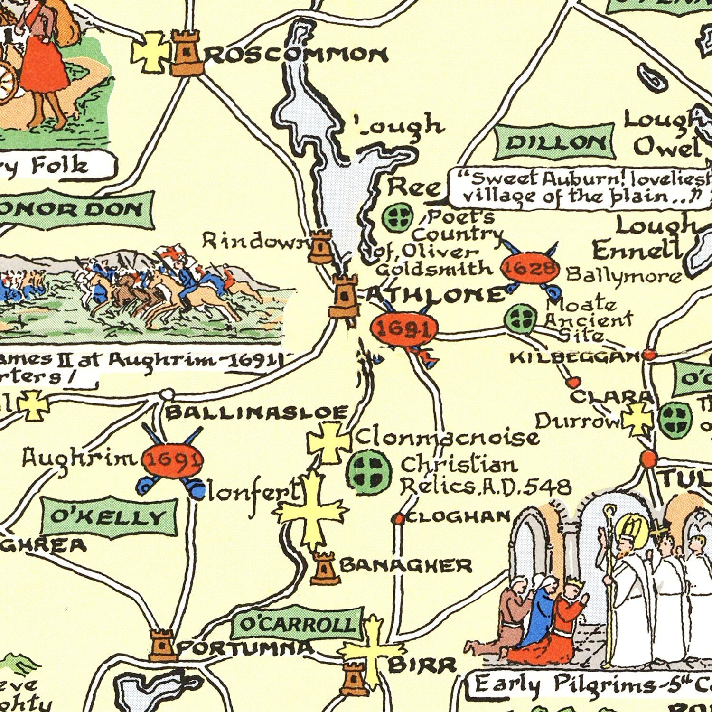 Historical Map of Ireland 1955
