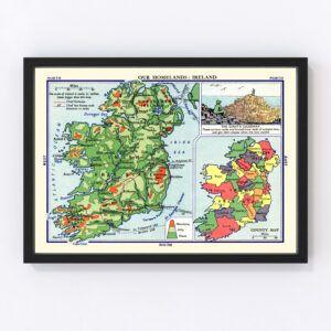 Our Homelands: Ireland Vintage Map 1935