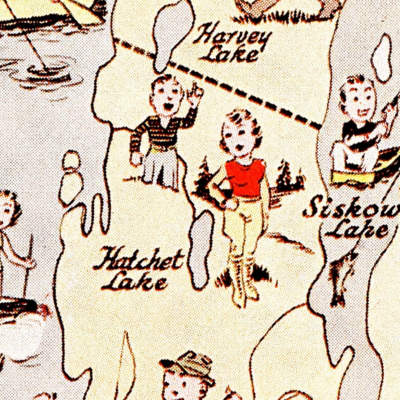 Vintage Map of Isle Royale National Park 1936