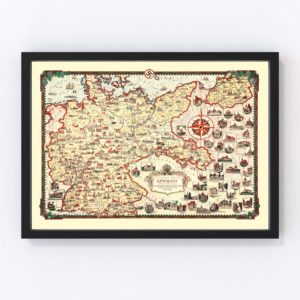 Vintage Pictorial Map of Germany 1935