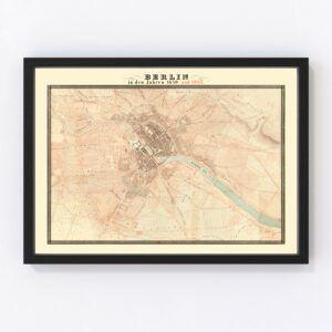 Vintage Map of Berlin, Germany 1843