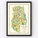 Vintage Map of Mendoza, Argentina, 1933