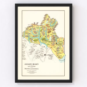 Vintage Map of Catamarca, Argentina, 1933