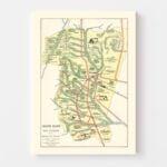 Vintage Map of Tucuman, Argentina, 1933