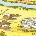 Vintage Map of Rio Negro, Argentina, 1933