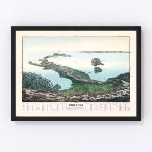 Vintage Map of Italy 1853
