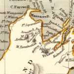 Vintage Map of New Zealand 1851