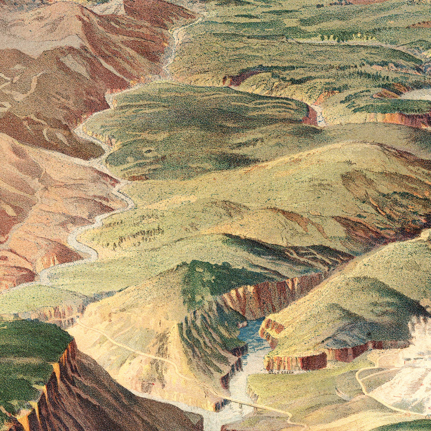 Vintage Map of Yellowstone National Park 1904