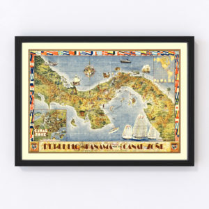 Pictorial Map of Panama 1939