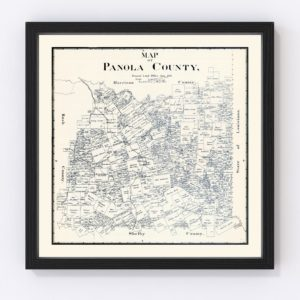 Vintage Map of Panola County, Texas 1897