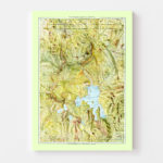 Vintage Map of Yellowstone National Park 1898
