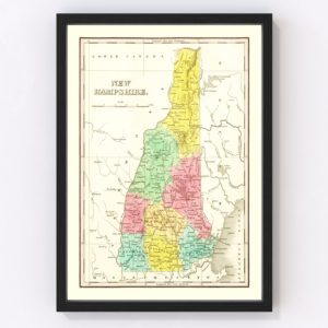 Vintage Map of New Hampshire 1831