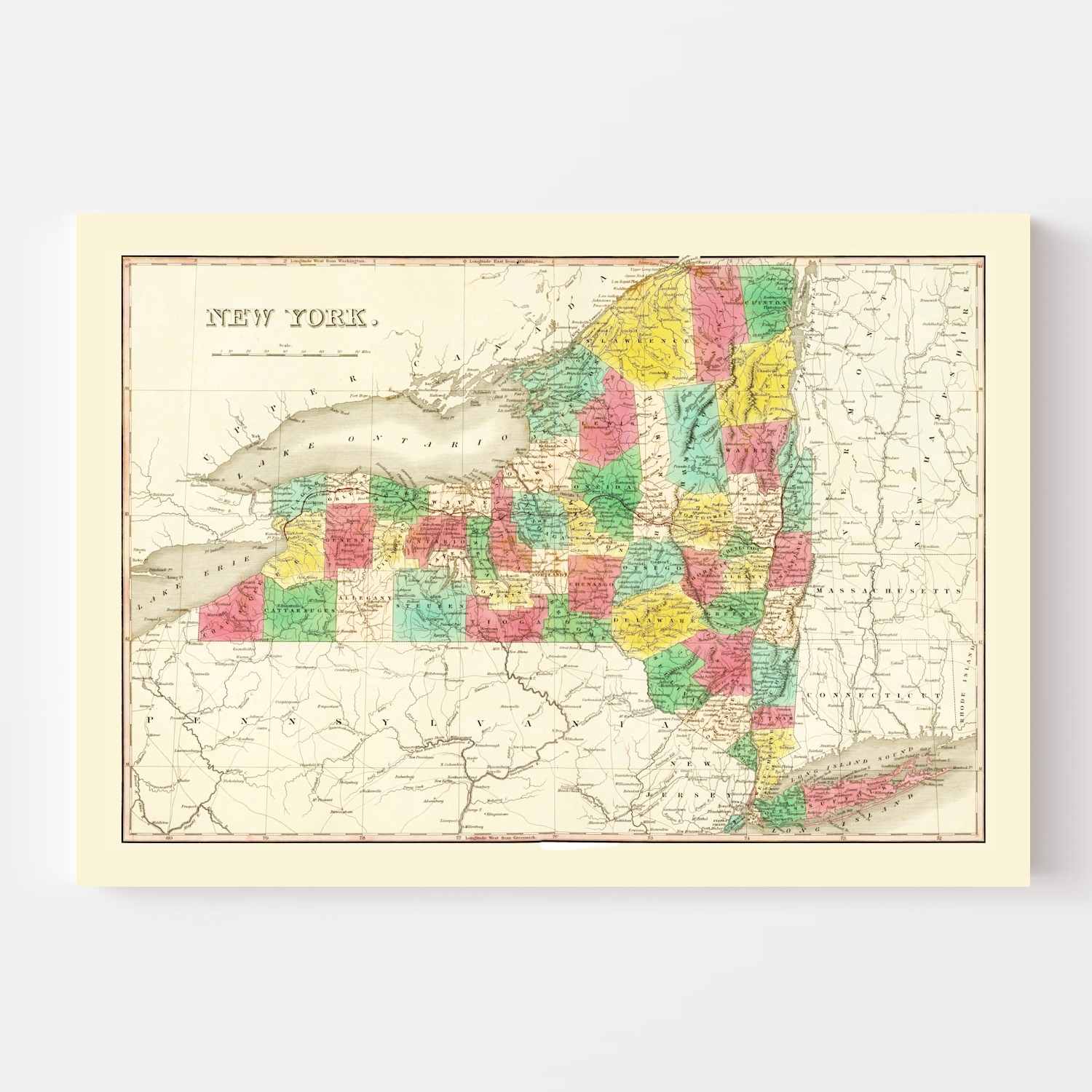 Vintage Map of New York 1831