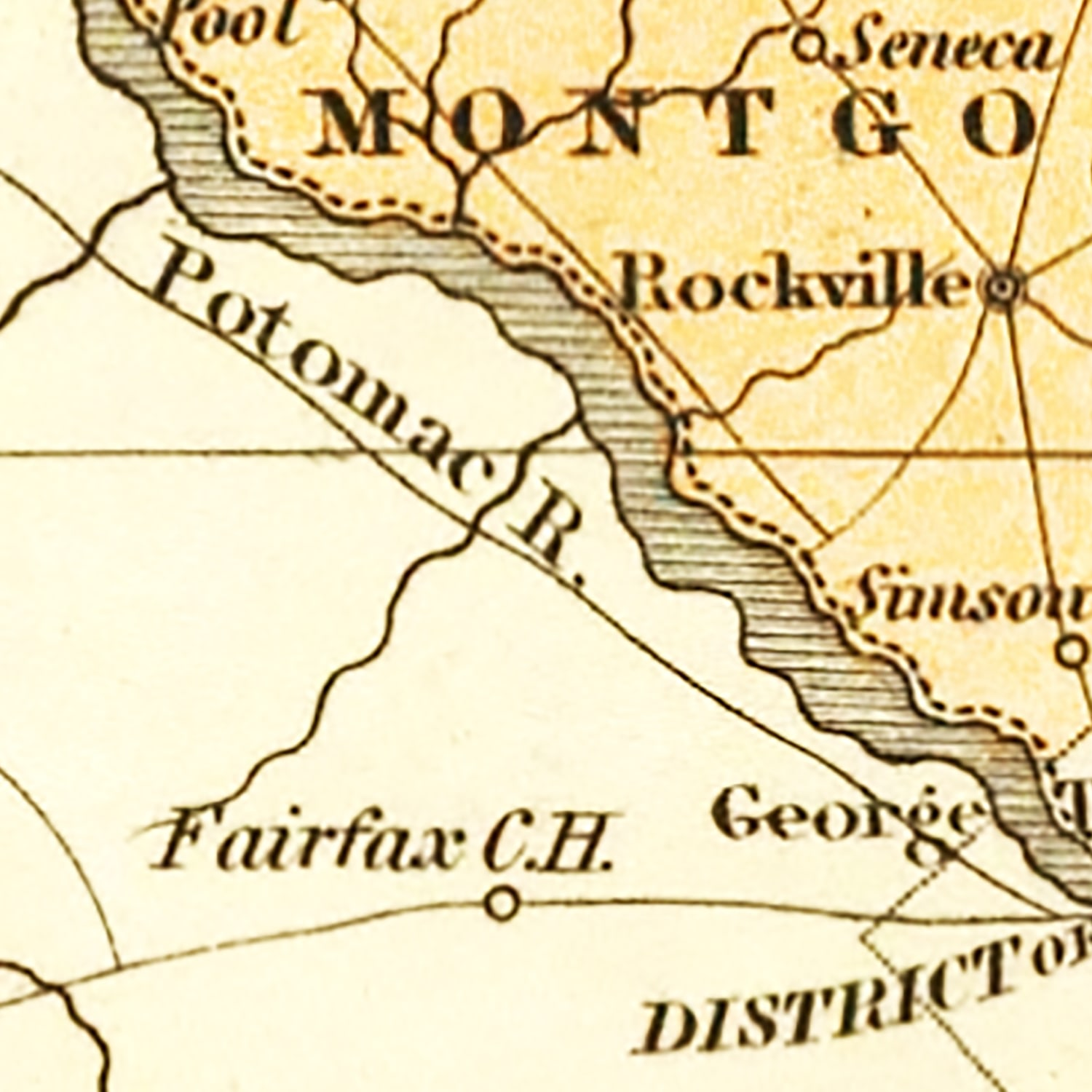Vintage Map of Maryland 1831