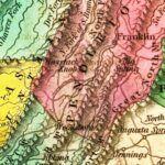 Vintage Map of Virginia 1831