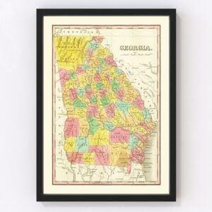 Vintage Map of Georgia 1831