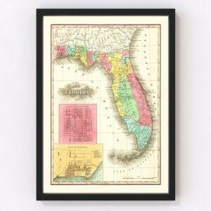Vintage Map of Florida 1831