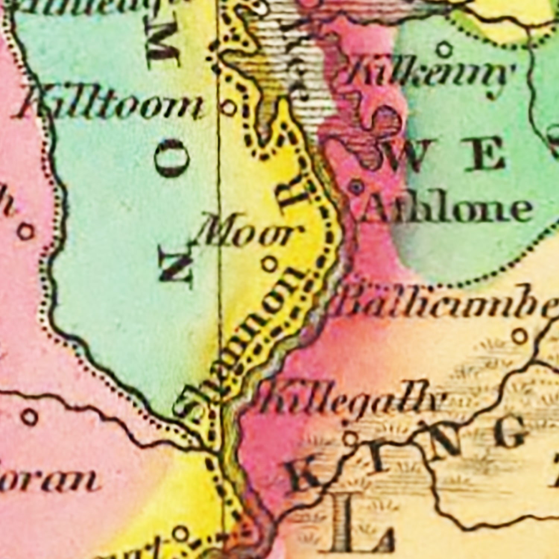 Vintage Map of Ireland 1831