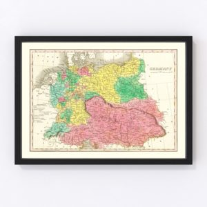 Vintage Map of Germany 1831