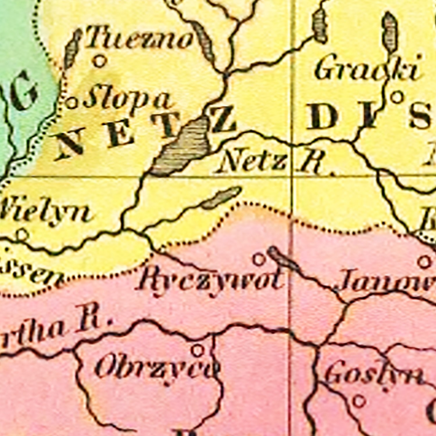 Vintage Map of Prussia 1831